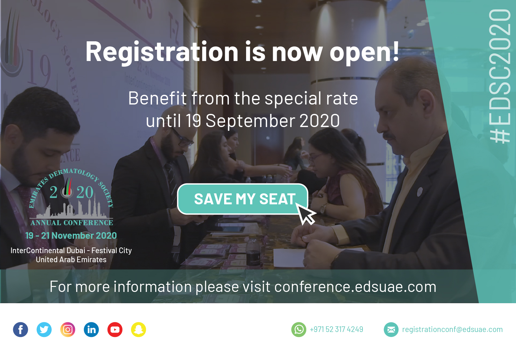 EDSC 2020 – Registration is now open!