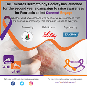 The Emirates Dermatology Society has launched for the second year a campaign to raise awareness for Psoriasis called Connect Engage
